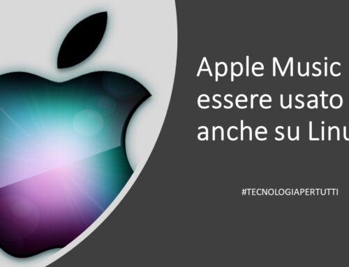 Apple Music può essere usato anche su Linux