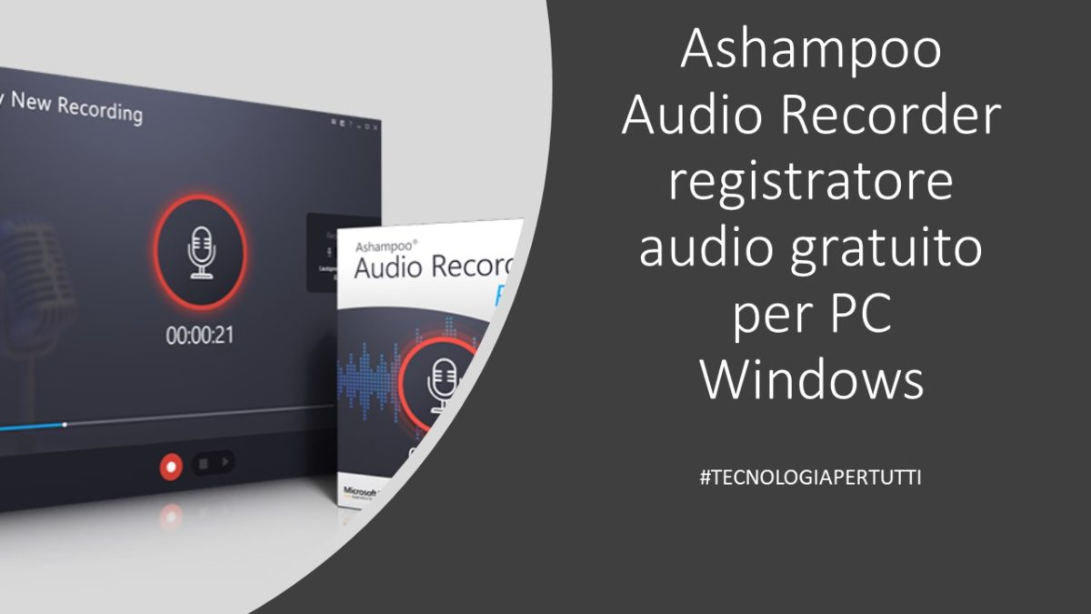 Ashampoo Audio Recorder registratore audio gratuito per PC Windows