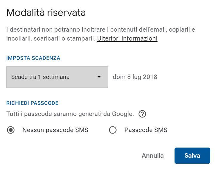 Come abilitare e utilizzare la modalità riservata in Gmail2