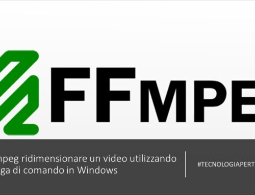 FFmpeg ridimensionare un video utilizzando la riga di comando in Windows