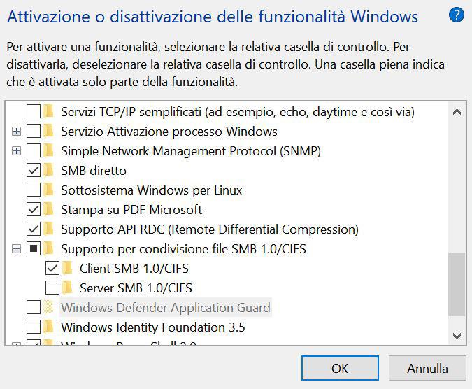 NAS sparito dalle risorse di rete di Windows2