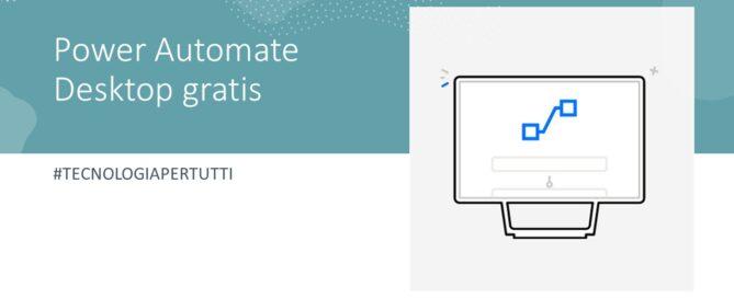 Power Automate Desktop gratis
