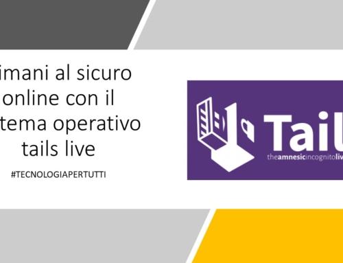 Rimani al sicuro online con il sistema operativo tails live