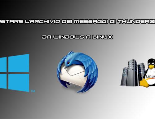 Come spostare l'archivio dei messaggi di Thunderbird da un computer Windows a Linux